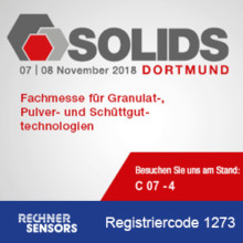 SOLIDS Dortmund 2018 → Trade show for granules, powder & bulk solids technologies